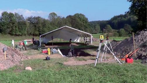 Annegray, fouilles archéologiques test en 2012