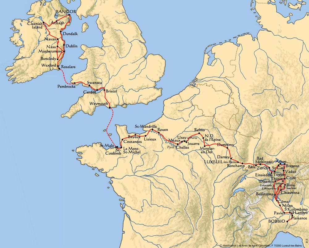 chemin européen de saint Colomban