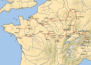 Chemin de l'exil après 610