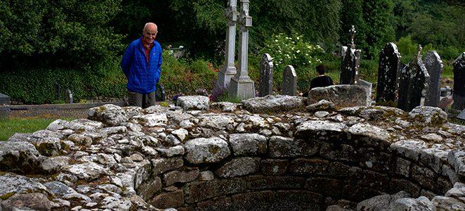 Un pèlerin sur le Turas Columbanus